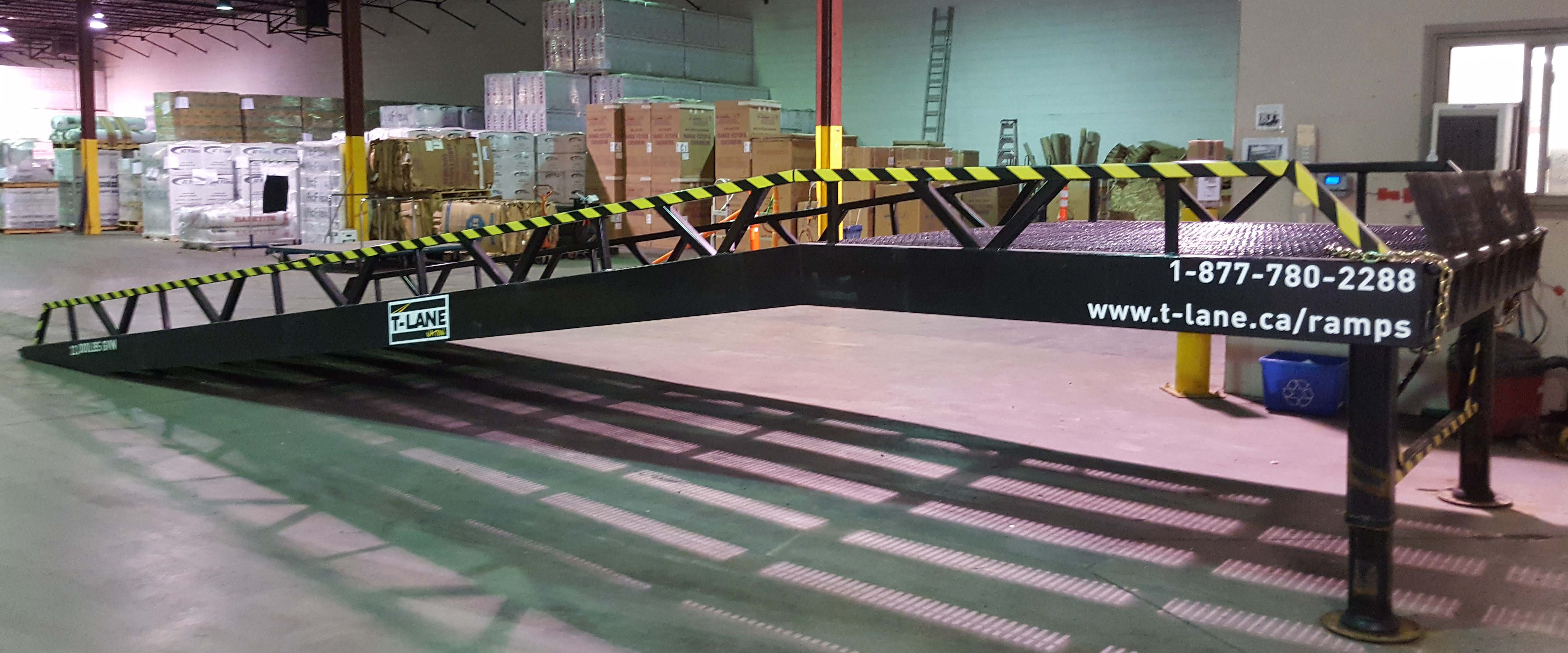 Wide Range Transportation Portable Loading Dock Ramp